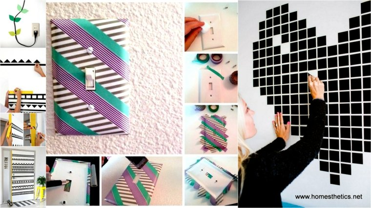 ideas estupendas decorar washi tape