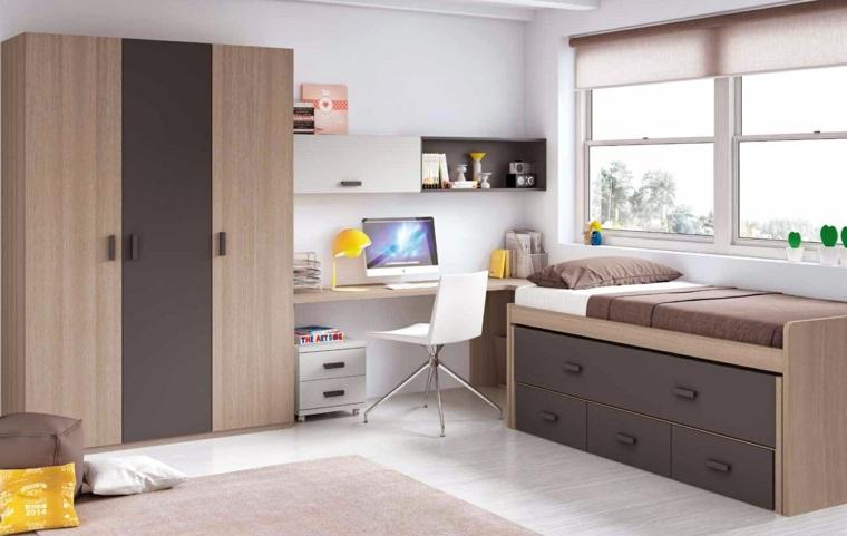ideas para decorar habitacion infantil colores oscuros muebles ideas