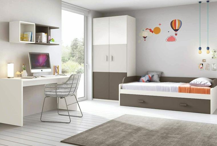 ideas para decorar habitacion infantil combinacion grises ideas