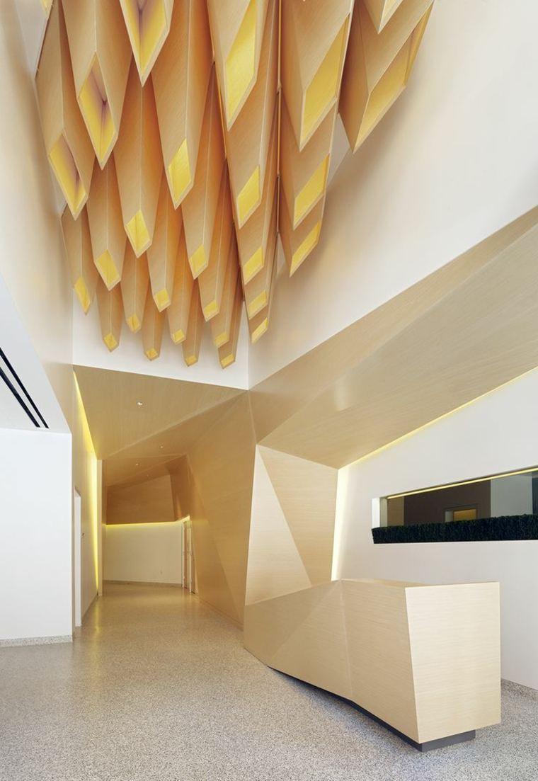 ideas para decorar techo diseno atractivo madera moderna
