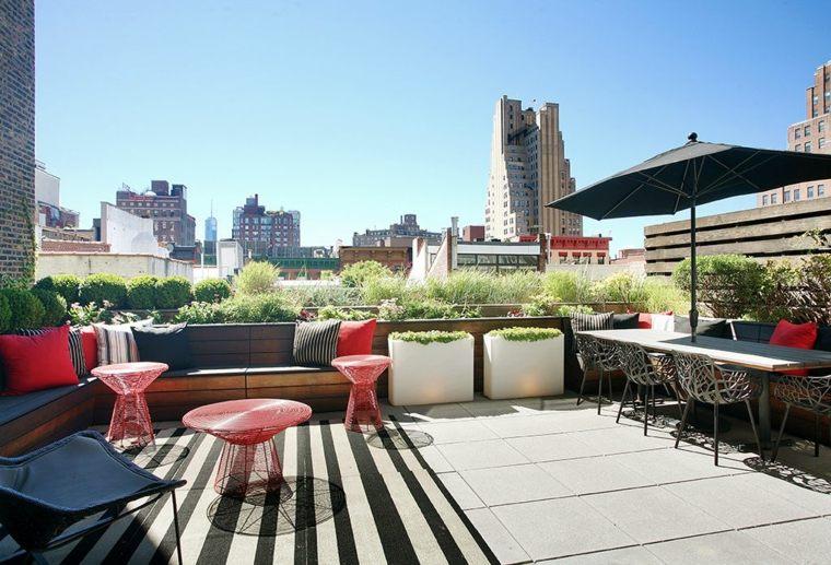 ideas para decorar terraza muebles estilo moderno