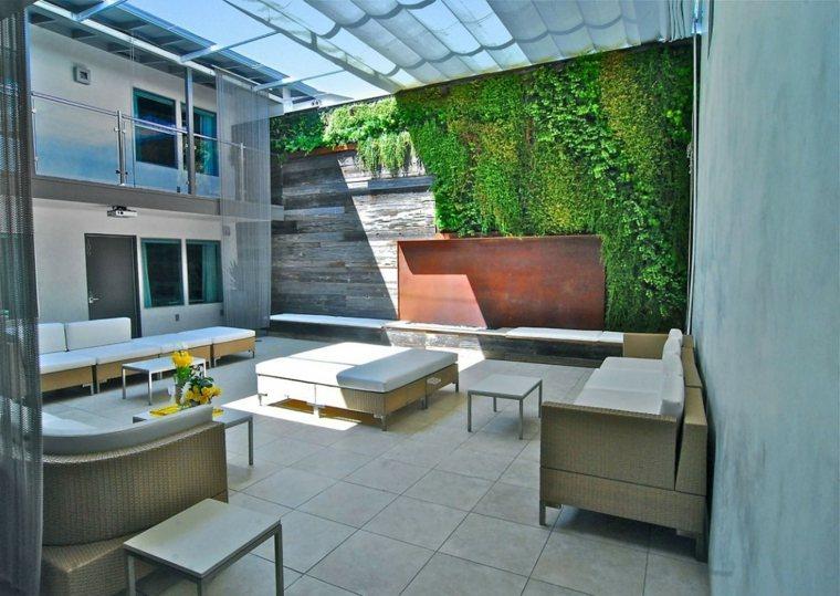 ideas para decorar terraza techo original estilo moderno
