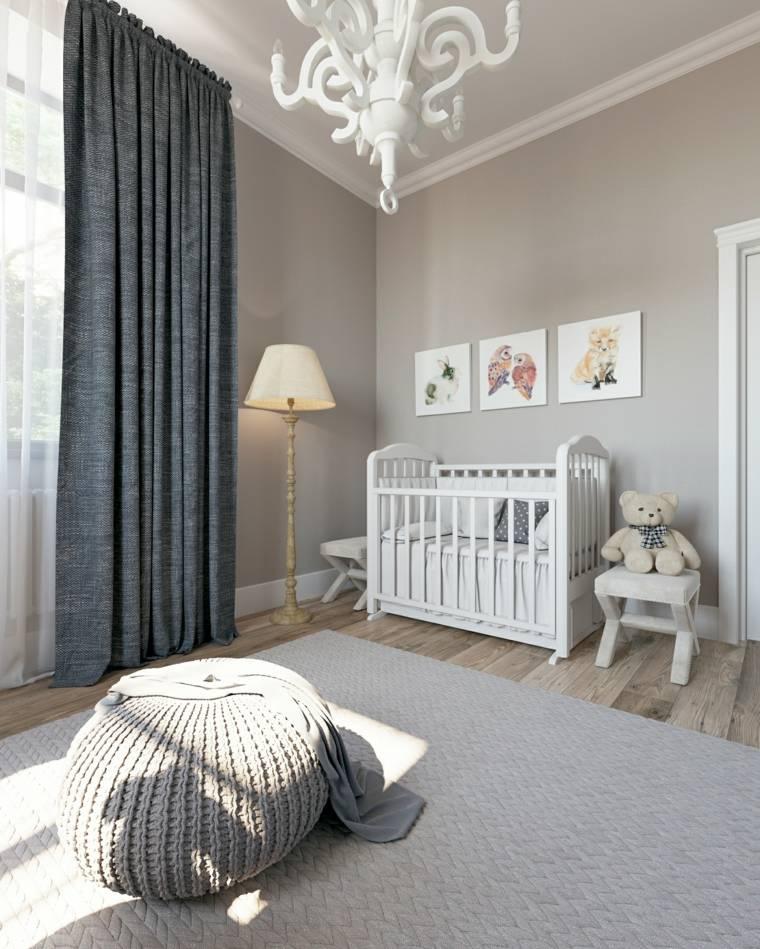 ideas para habitacion de bebe color gris