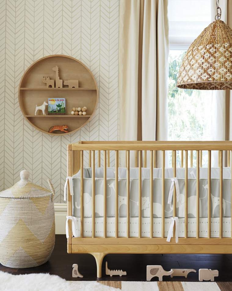 ideas-para-habitacion-de-bebe-madera-natural