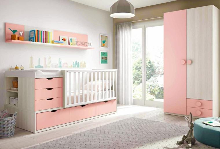 ideas para habitacion de bebe opciones ninas moderna