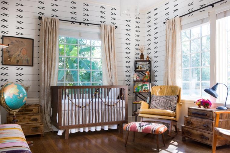 habitacion de bebe papel pared preciosos moderna