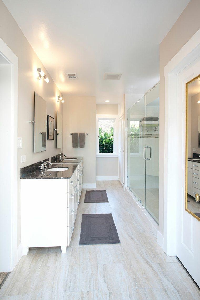ideas para reformar el bano estrecho pasillo lavabos