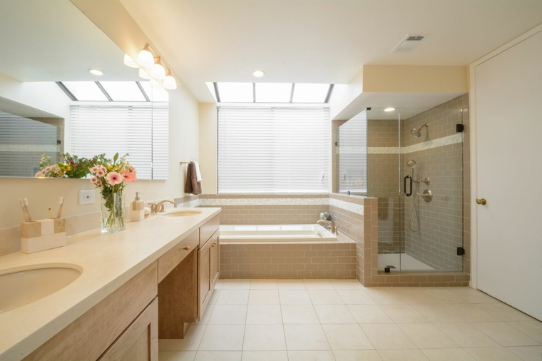 ideas para reformar el bano habitacion amplia ducha banera