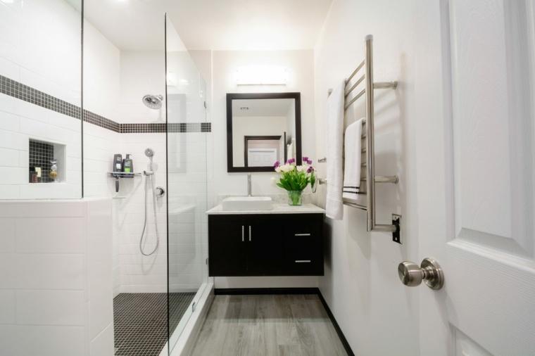 ideas para reformar el bano pequeno ducha moderno