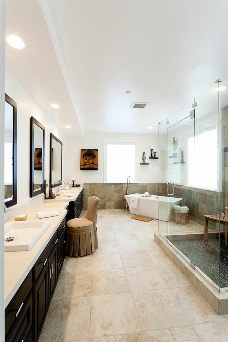 ideas para reformar el bano spa casa dos lavabos