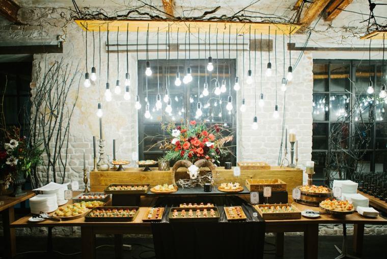 iluminacion original boda vintage mesa ideas