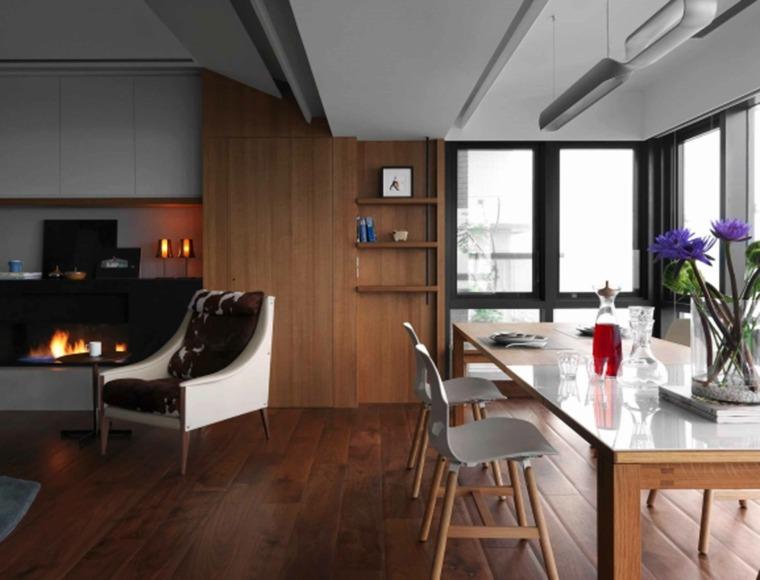 impresionantes diseños interiores madera