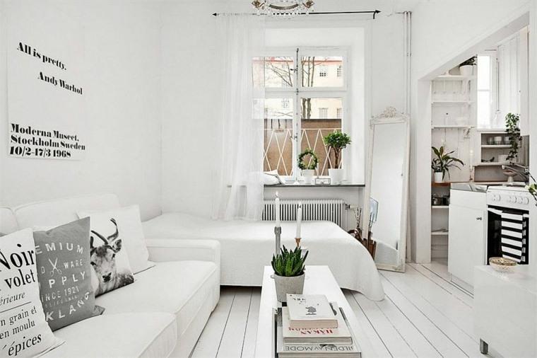 interior modenro piso pequeño