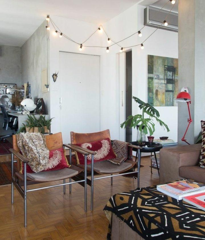interior eclectico look bohemio sillones