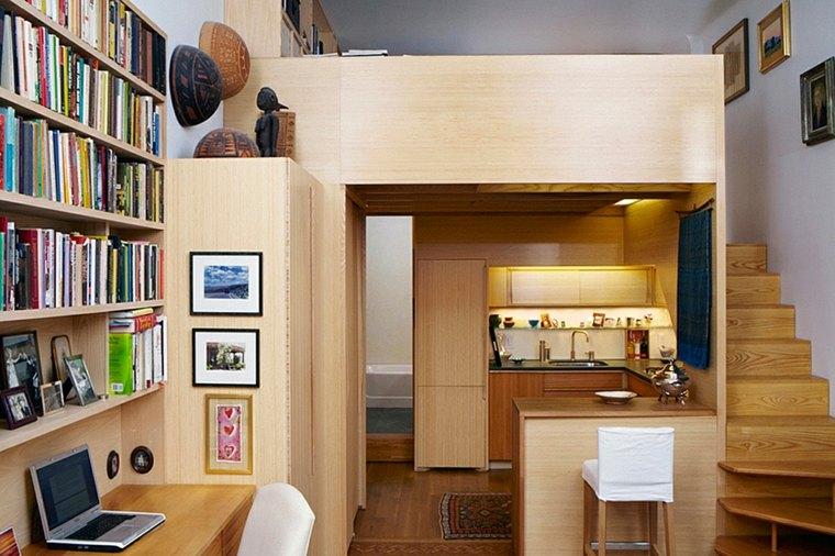 interior diseño eficiente estilo loft