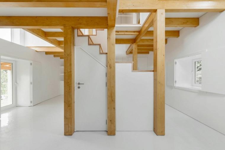 interior estilo minimalista vigas madera