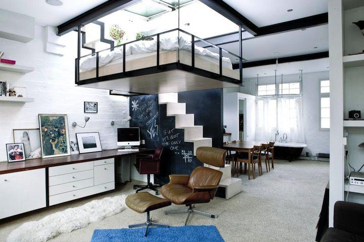 diseño interior moderno estilo loft