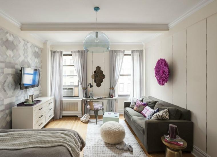 interior piso moderno pequeño