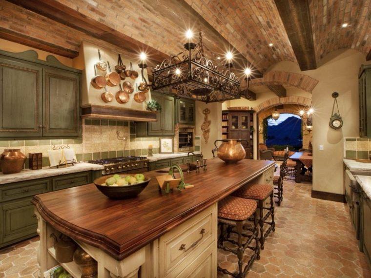 isla-grande-cocina-muebles-madera-verde-diseno-rustico