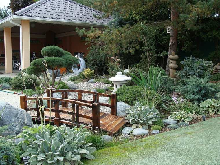 jardin zen puente decorativo