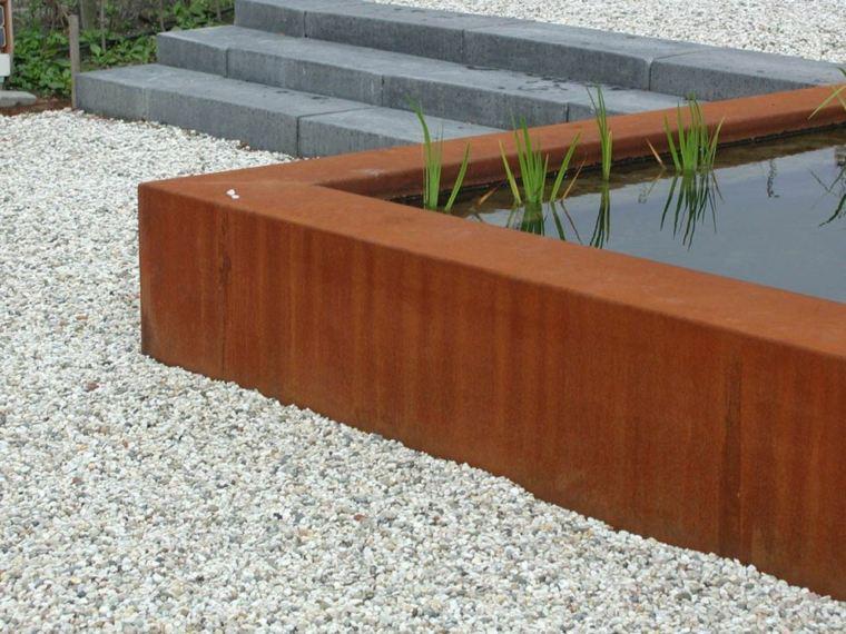 jardines acero corten exterior