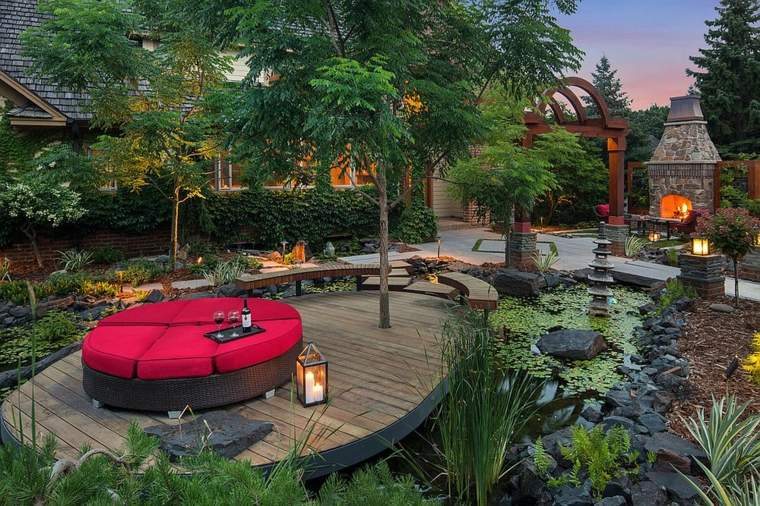 jardines japoneses diseño moderno