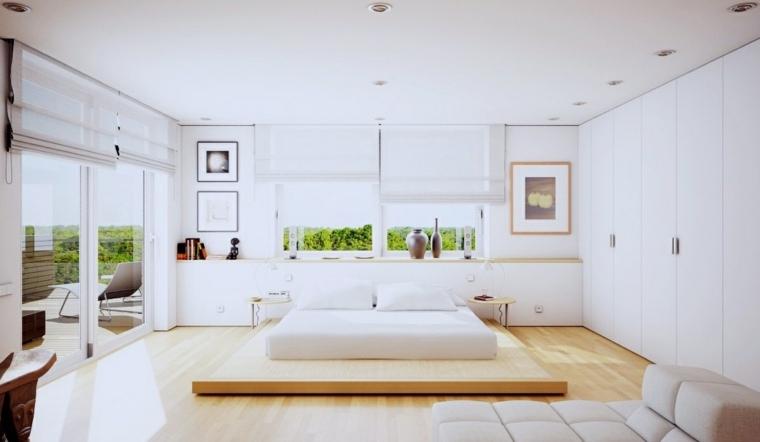 jarrones cama baja estilo japones