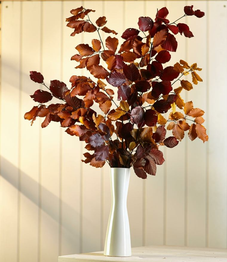 Flores secas para decorar el interior - Jarrones de cristal con flores ...