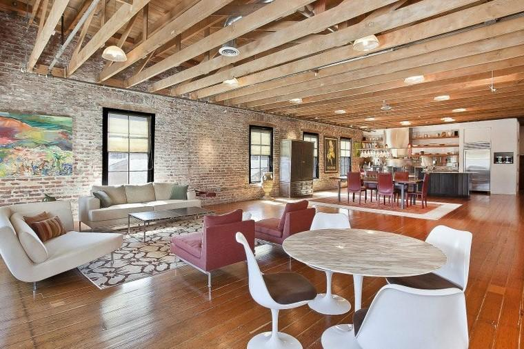ladrillo visto diseno interior loft san francisco ideas