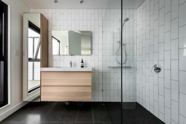 lavabo estilo minimalista cajones madera
