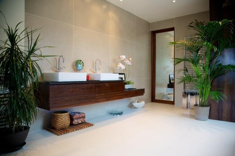 lavabos tocador flotante madera