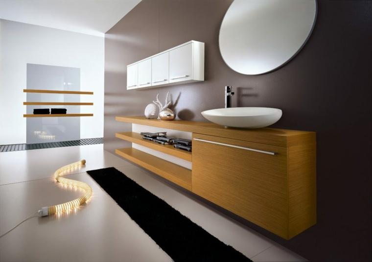 Tocadores y lavabos flotantes para el cuarto de ba o for Bajo gabinete tocador bano de madera