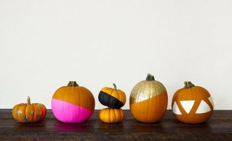 Decoraci n halloween te presentaremos las mejores ideas - Calabazas pintadas y decoradas ...