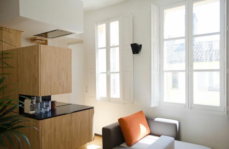 diseños de interiores ideas ventanas cocinas pequenas pared
