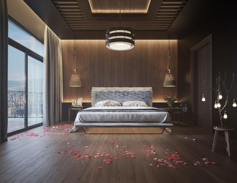 madera para paredes dormitorio casa