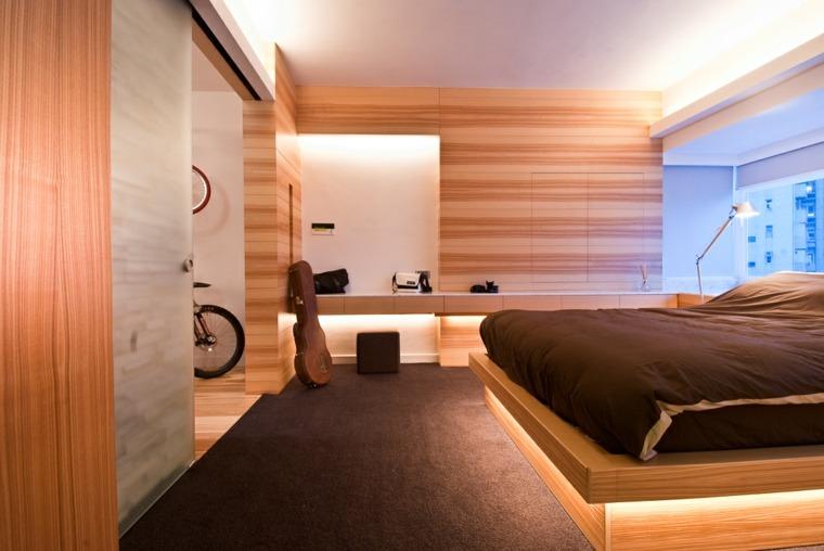 madera para paredes dormitorios modernos