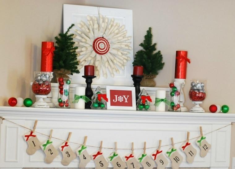 navidad chimenea decoracion original ideas