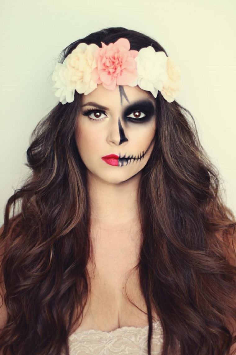 maquillaje halloween rapido opciones medio rostro ideas
