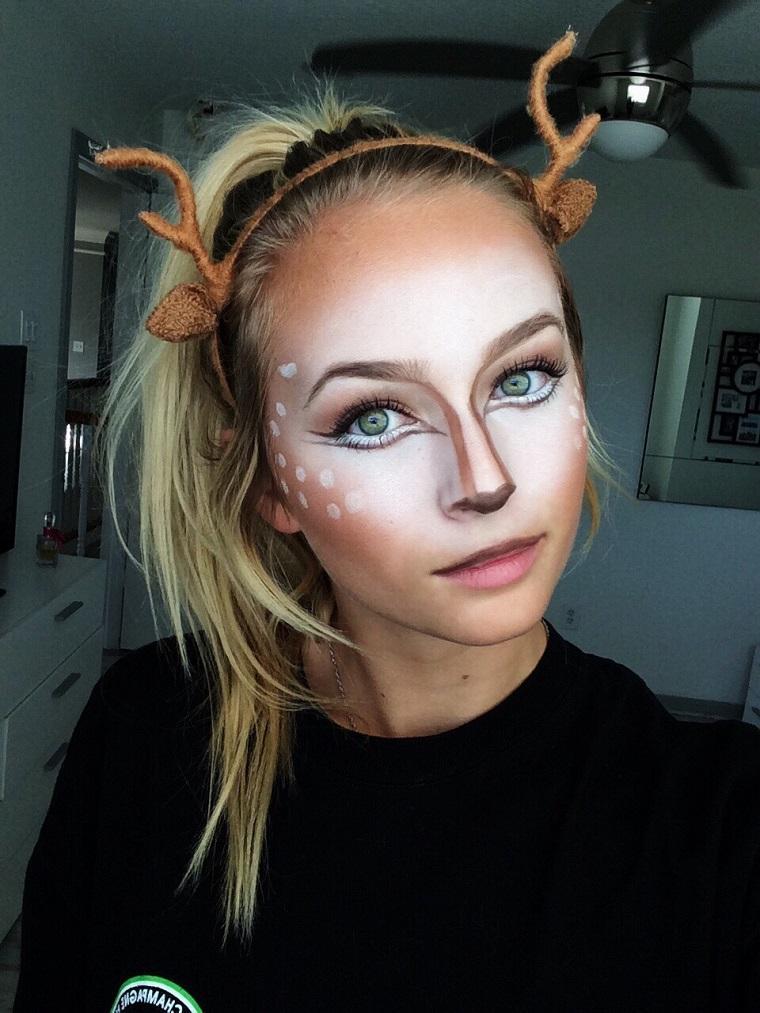 maquillaje halloween rapido reno dulce bonito ideas