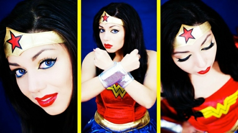 maquillaje para halloween wonder women rapido ideas