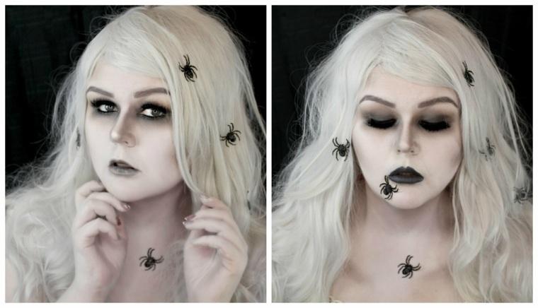 maquillaje para halloween aranas opciones originales ideas