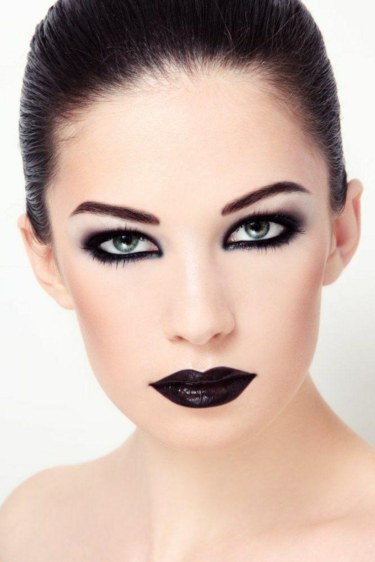maquillaje para halloween bello elegante negro ideas
