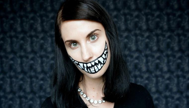 maquillaje para halloween boca grande opciones ideas