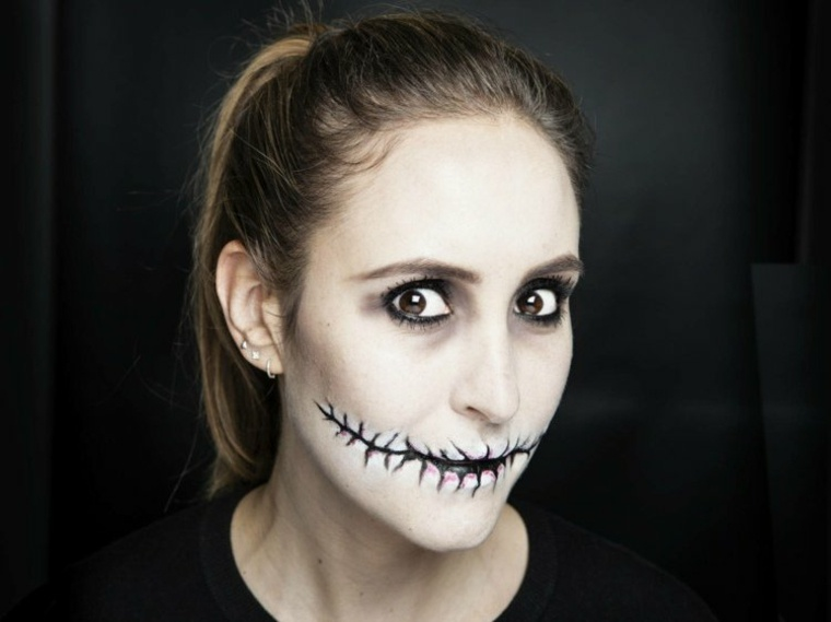 maquillaje para halloween boca zombi rapido ideas