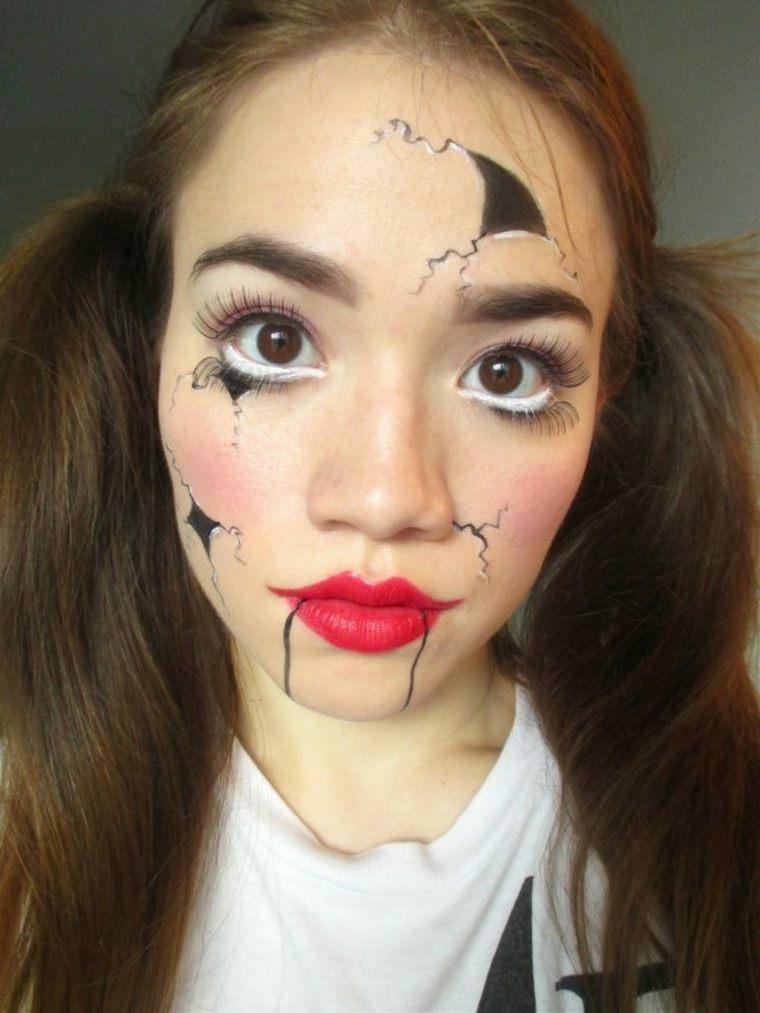 maquillaje para halloween interesante diseno moderno ideas