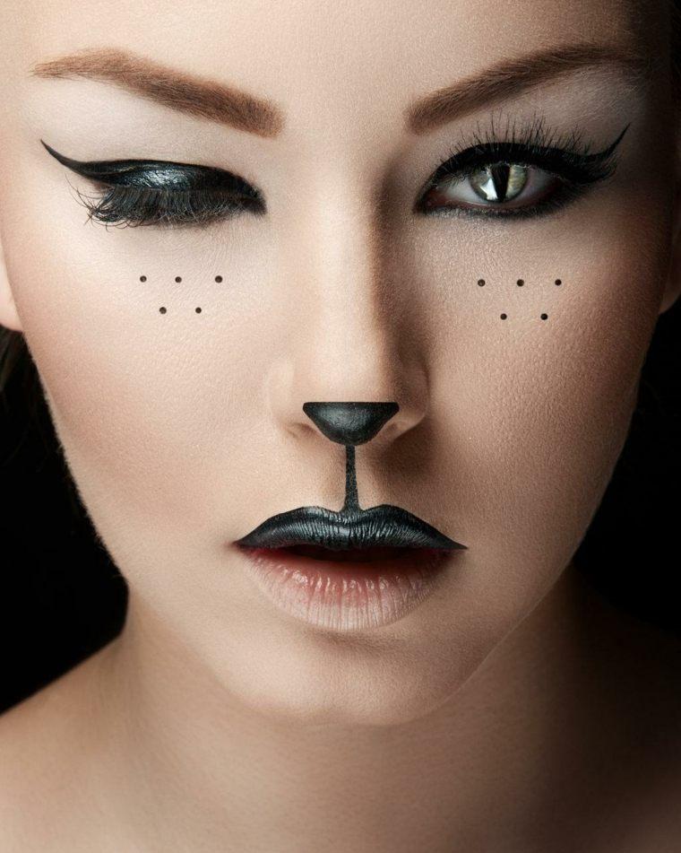 maquillaje para halloween mujer gato precioso ideas