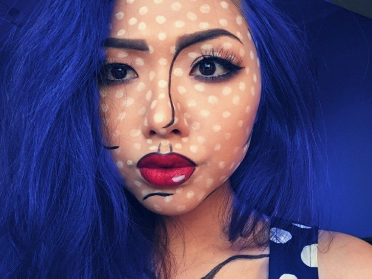 maquillaje para halloween pop art rapido ideas