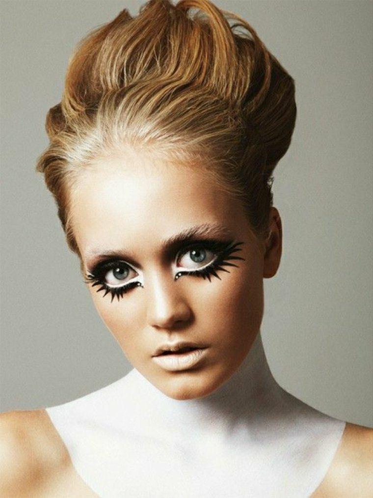 maquillaje para halloween retro elegante ideas