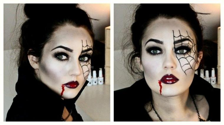maquillaje para halloween telarana ojo vampiresa ideas