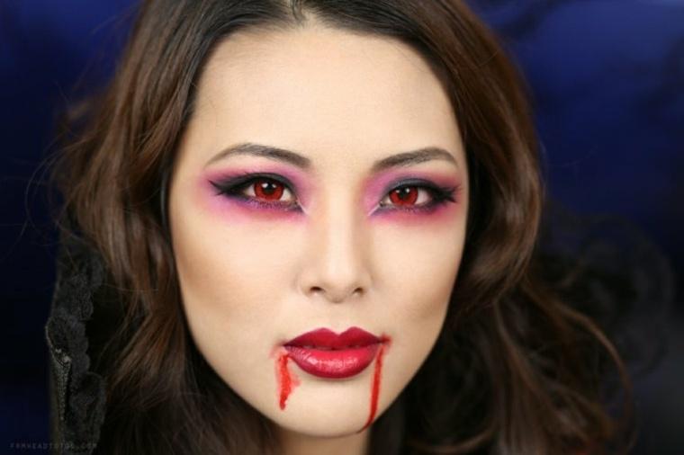 maquillaje para halloween vampiresa facil ideas